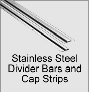 Stainless Steel Divider Bars and Cap Strips